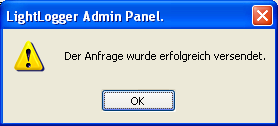 LightLogger Keylogger Dialog für Support